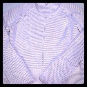 10 Crosby Derek lam cream knit sweater L